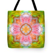 Yellow Green Medallion Tote Bag