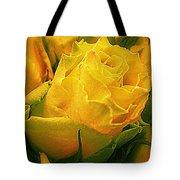 Yellow Green Rose Tote Bag