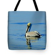 Yellow Headed Pelican Tote Bag