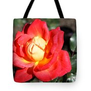 Yellow Heart Rose Tote Bag
