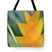 Yellow Heliconia - Hawaii Plants Flowers  Tote Bag