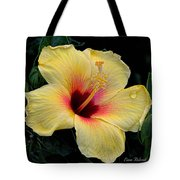 Yellow Hibicus Tote Bag