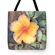 Yellow Hibiscus Tote Bag