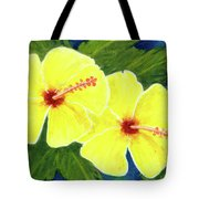 Yellow Hibiscus Flower #292 Tote Bag