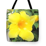 Yellow Hibiscus St Kitts Tote Bag
