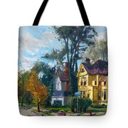 Yellow House Tote Bag