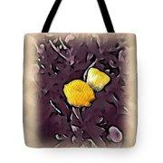 Yellow In Purple Tote Bag