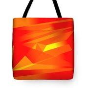 Yellow In Red Tote Bag