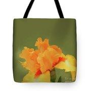Yellow Iris Pillow Tote Bag