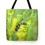 Yellow Jacket Tote Bag