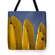 Yellow Kayaks Tote Bag