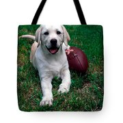 Yellow Labrador Retriever Puppy Tote Bag