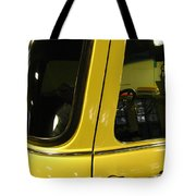 Yellow Lady Abstract Tote Bag