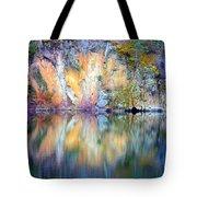 Yellow Lake Abstract Tote Bag