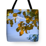 Yellow Leaf Reflections Tote Bag