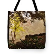 Yellow Leaves In The Mist Tote Bag