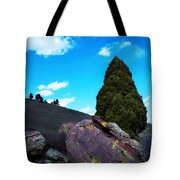 Yellow Lichen Tote Bag