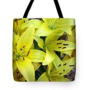 Yellow Lilies Tote Bag