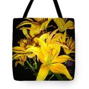 Yellow Lilies Tote Bag