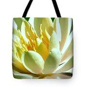 Yellow Lily Burst Tote Bag
