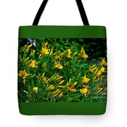Yellow Lily Flowers Tote Bag