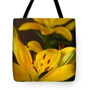 Yellow Lily Mirror Tote Bag