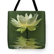 Yellow Lily With Reflections Tote Bag