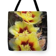 Yellow Long- Spined Prickly Pear Cactus  Tote Bag