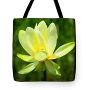 Yellow Lotus Tote Bag