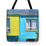 Yellow Meets Blue Tote Bag