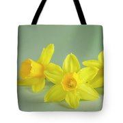 Yellow Mini Narcissus On Green 2 Tote Bag