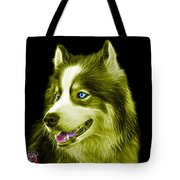 Yellow Modern Siberian Husky Dog Art - 6024 - Bb Tote Bag