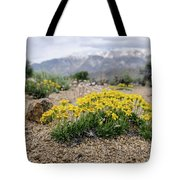 Yellow Mountain Blooms Tote Bag by Margaret Pitcher