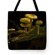 Yellow Mushrooms Tote Bag