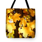 Yellow Nature Tree Leaves Art Prints Bright Baslee Troutman Tote Bag