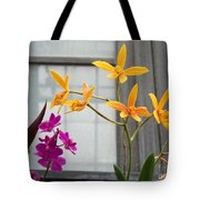 Yellow Orange And Purple Flowers Tote Bag
