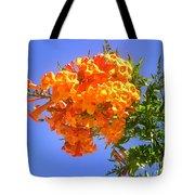 Yellow-orange Horn Flowers 01 Tote Bag