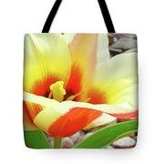 Yellow Orange Tulip Flower Art Print Baslee Troutman Tote Bag