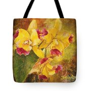 Yellow Orchids Acrylic Tote Bag