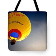 Yellow Pages Balloon Tote Bag