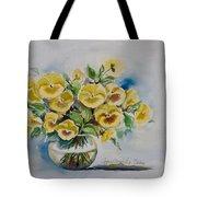 Yellow Pansies Tote Bag