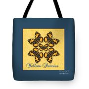 Yellow Pansy Butterfly Wheel Tote Bag