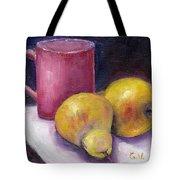 Yellow Pears And Mug Stll Life Grace Venditti  Tote Bag