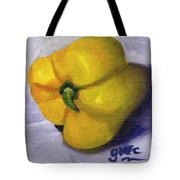 Yellow Pepper On Linen Tote Bag