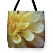Yellow Petals With Raindrop Tote Bag