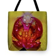 Yellow Phalaenopsis Centerpiece - Orchid And Raindrops 003 Tote Bag