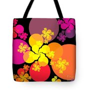 Yellow Pink Red Orbs Tote Bag