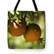 yellow Pomegranate Tote Bag by Atul Daimari
