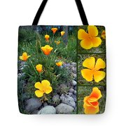 Yellow Poppies Collage  Tote Bag