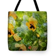 Yellow Pretty Little Flowers Tote Bag